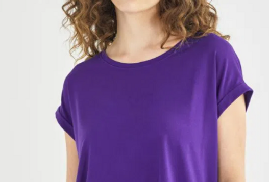 T-SHIRT BOXY MANGA TRAVETADA - SHOULDER
