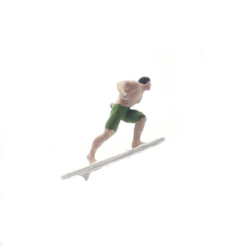 Surfista em manobra