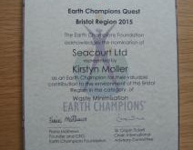 Seacourt Awarded Earth Champions Quest!