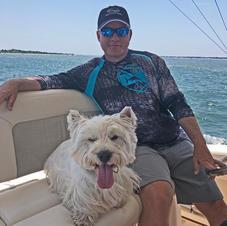 Grady loves his boat!