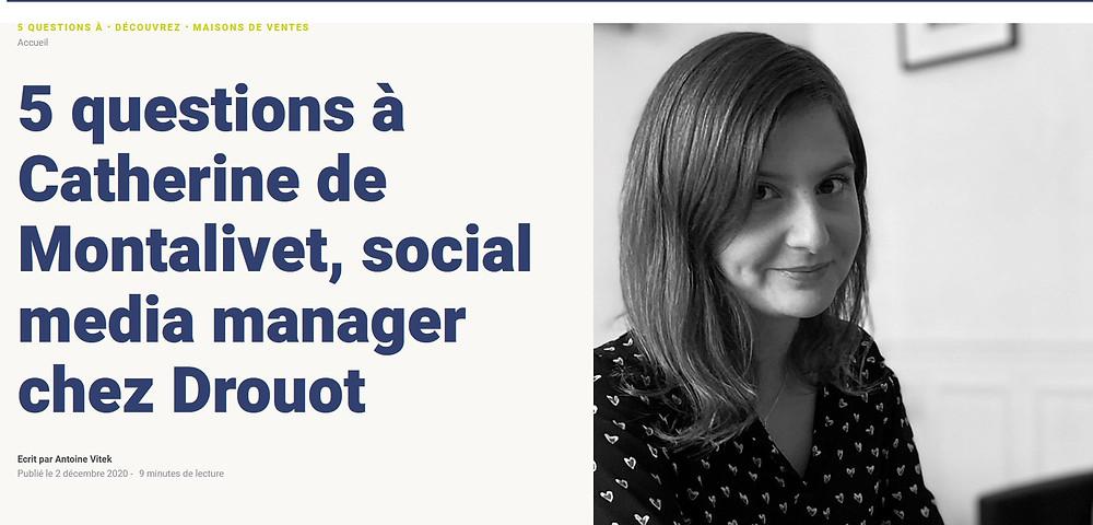 Interview de Catherine de Motalivet - Drouot - par Antoine Vitek