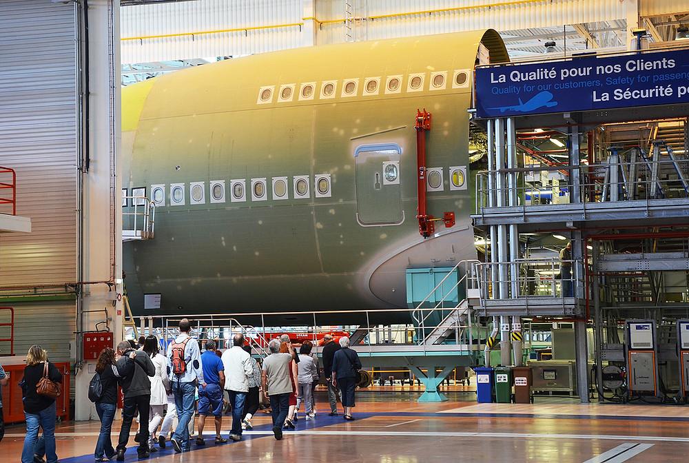 Airbus à Saint-Nazaire, ©A.Klose/ SNTP