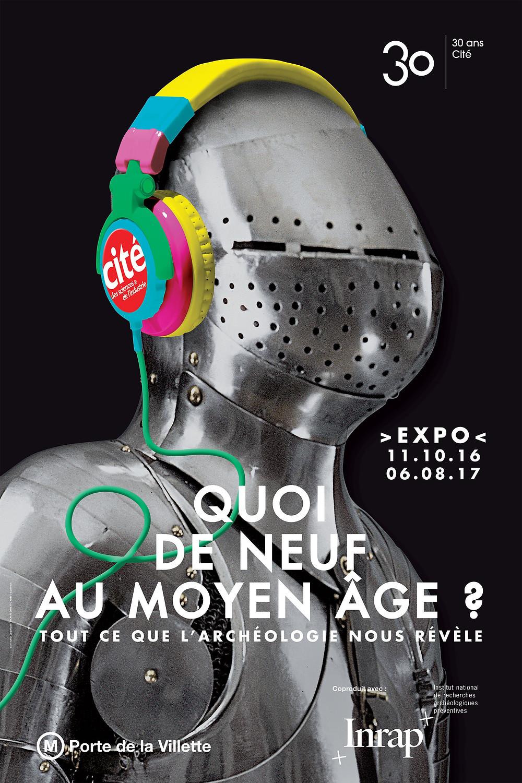 Affiche Expo Quoi de neuf au Moyen Âge ? - Cité des Sciences et de l'industrie