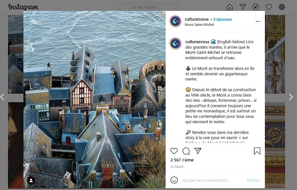 post Instagram Culturez-vous
