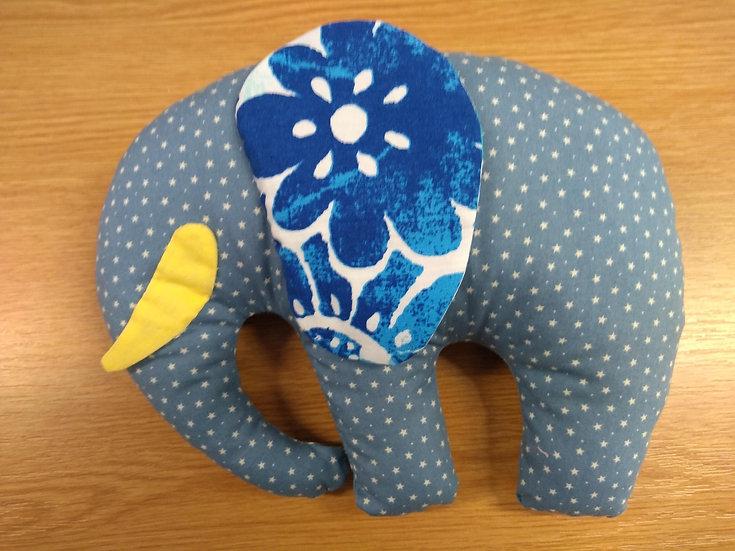 Handmade Cotton Elephant (2 legged) Approx 17cms Tall