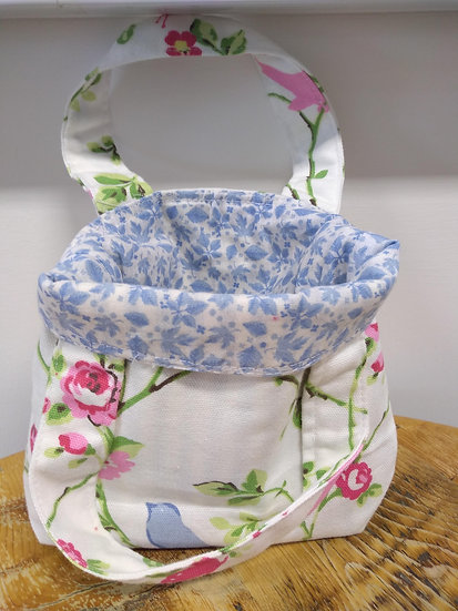 Handmade lined Cotton Bag Larger Size  25cms x 26cm