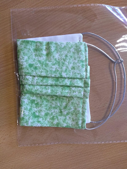 Green Leaves Cotton Face Mask