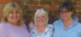 Sue, Joyce and Yve Amble Shop June 2018.