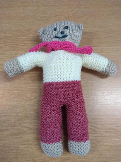 Knitted Teddy  29cms Tall