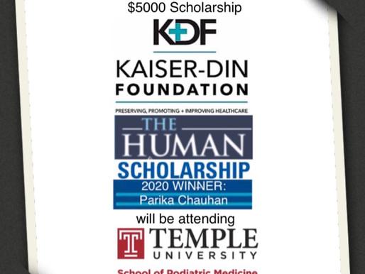 Congrats to our scholarship recipient!