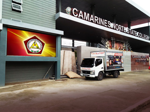 Camarines Norte State College  Location: Camarines Norte LED Model: XD6 LED Disply Size: 3.84m x 1.92m LED Cabinet Size: 1280mm x 960mm Pitch: 6mm