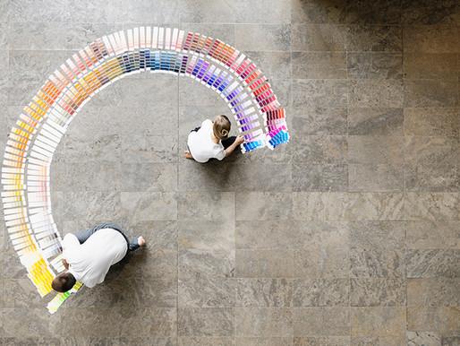 Como navegar pelas paletas de cores