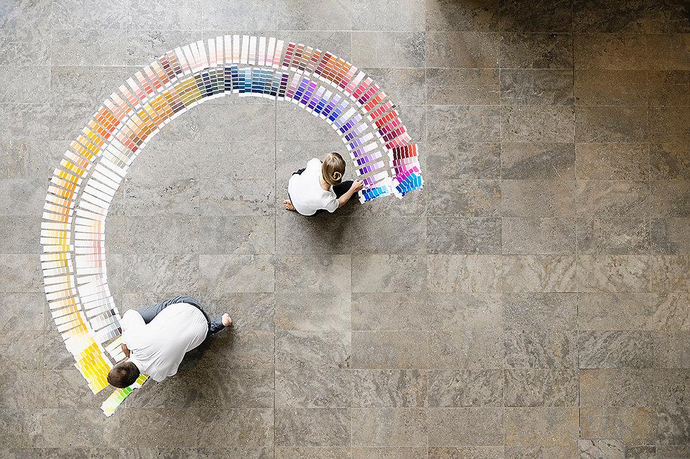 plan, couleur et matériaux