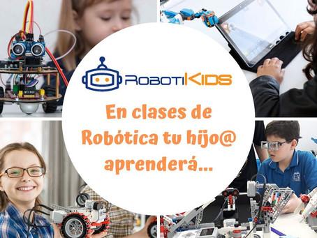 ¿Qué aprenderá tu hij@ en clases de robótica?