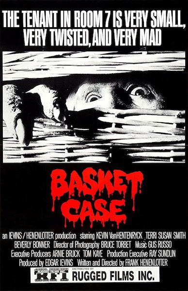 The front cover of the horror movie Basket Case