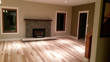 Hickory Floor, Reclaimed Mantle