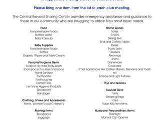 Food & Supply Drive to Support the Sharing Center of Central Brevard