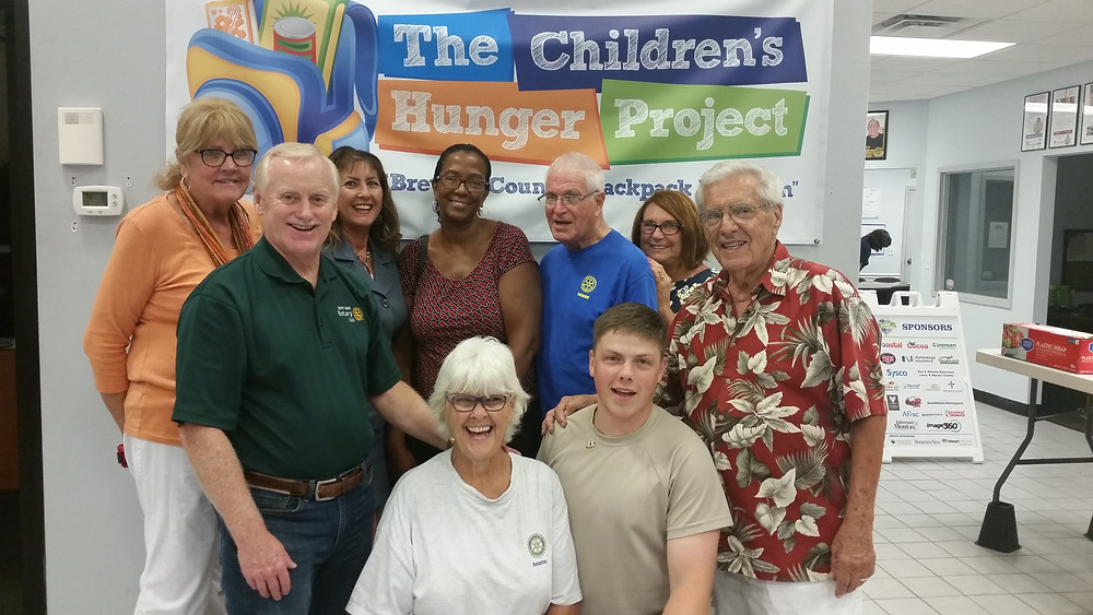 Giving Back, The Children's Hunger Project and Merritt Island Rotary Club