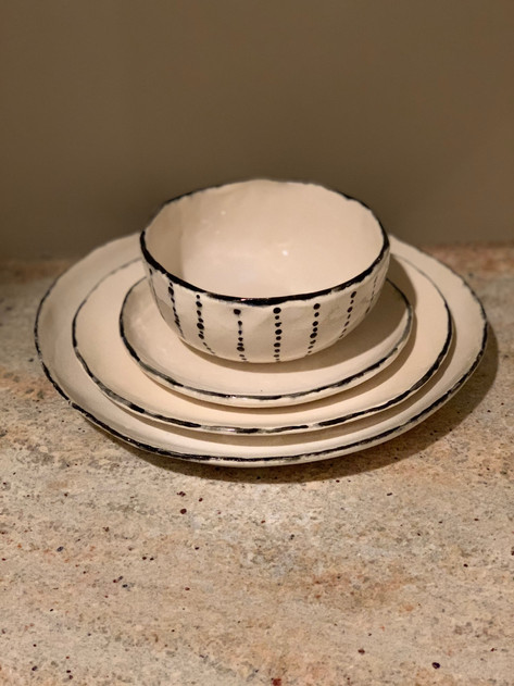 Dinner Set priced individually, made on commission