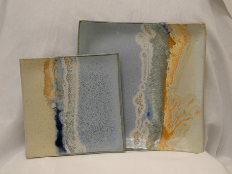 Square Plates with feet
