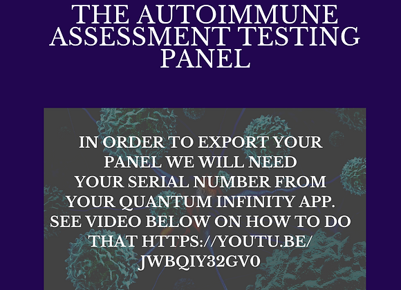 The Autoimmune Assessment Panel