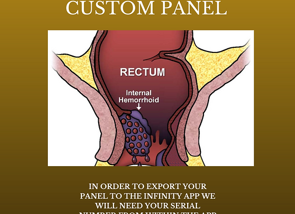 Dr Lou's Hemorrhoid Relief Custom Panel for Your Quantum iNfinity!