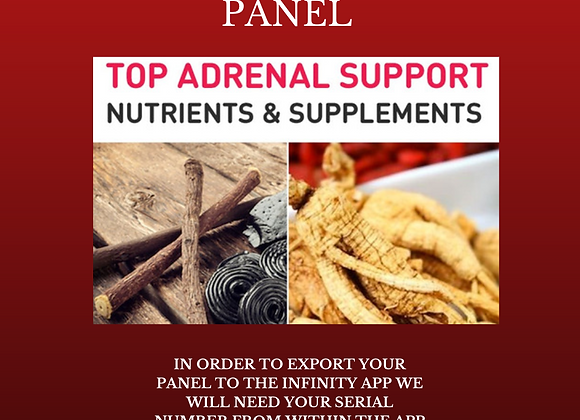 Dr Lou's Adrenal Support Custom Panel for Your Quantum iNfinity!