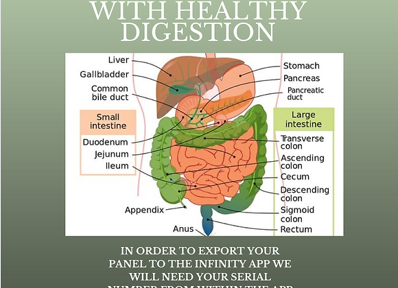Tonya Kerrin's Custom Panel to aid with healthy digestion