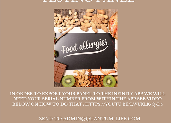 Food Sensitivity Testing Panel