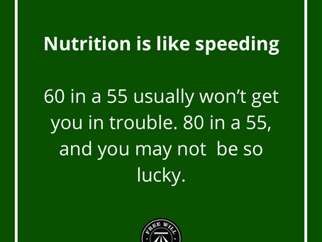 Tip Tuesday: Nutrition is like speeding
