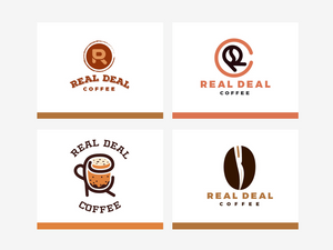 Real Deal Coffee Logo Designs