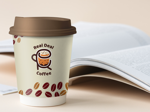 Real Deal Coffee Promotional Material Mockup