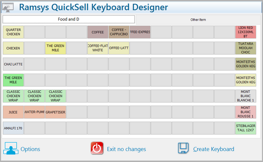 Quicksell Keyboard Designer