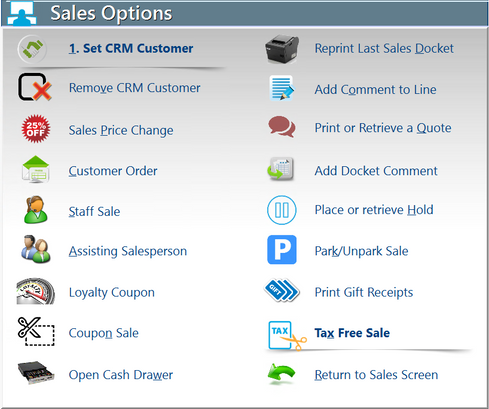 Sales Options