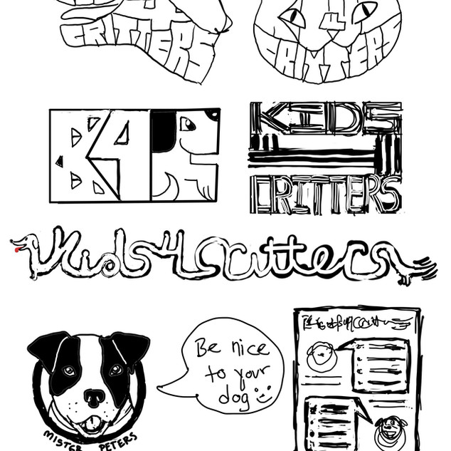 Kids 4 Critters Sketches Cleaned up