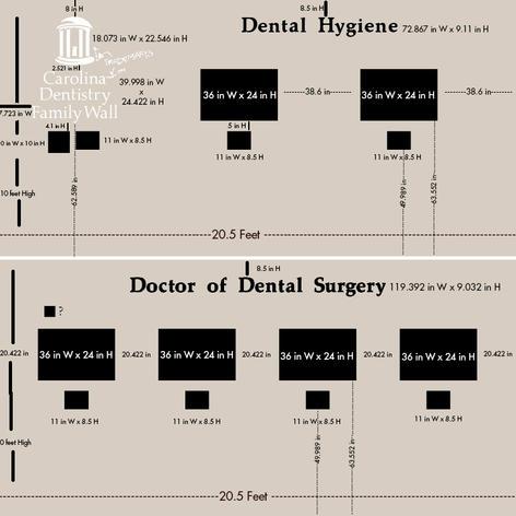 UNC Family Dental Wall Layout