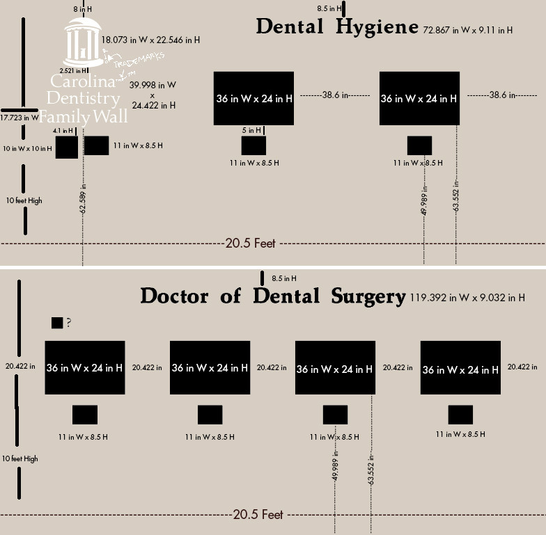 UNC Family Dental Wall Layout