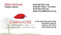 Caramore Business Card Blake