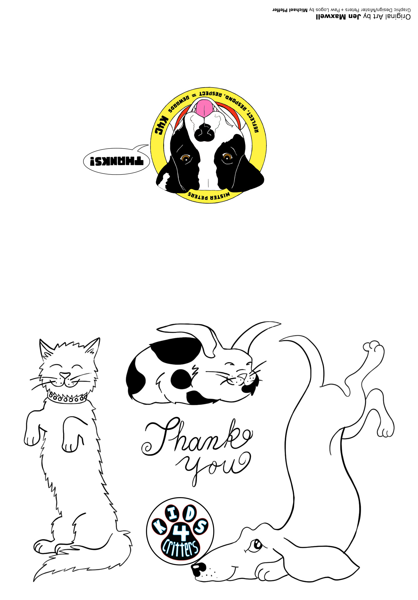 Kids 4 Critters Thank You Card COLOR