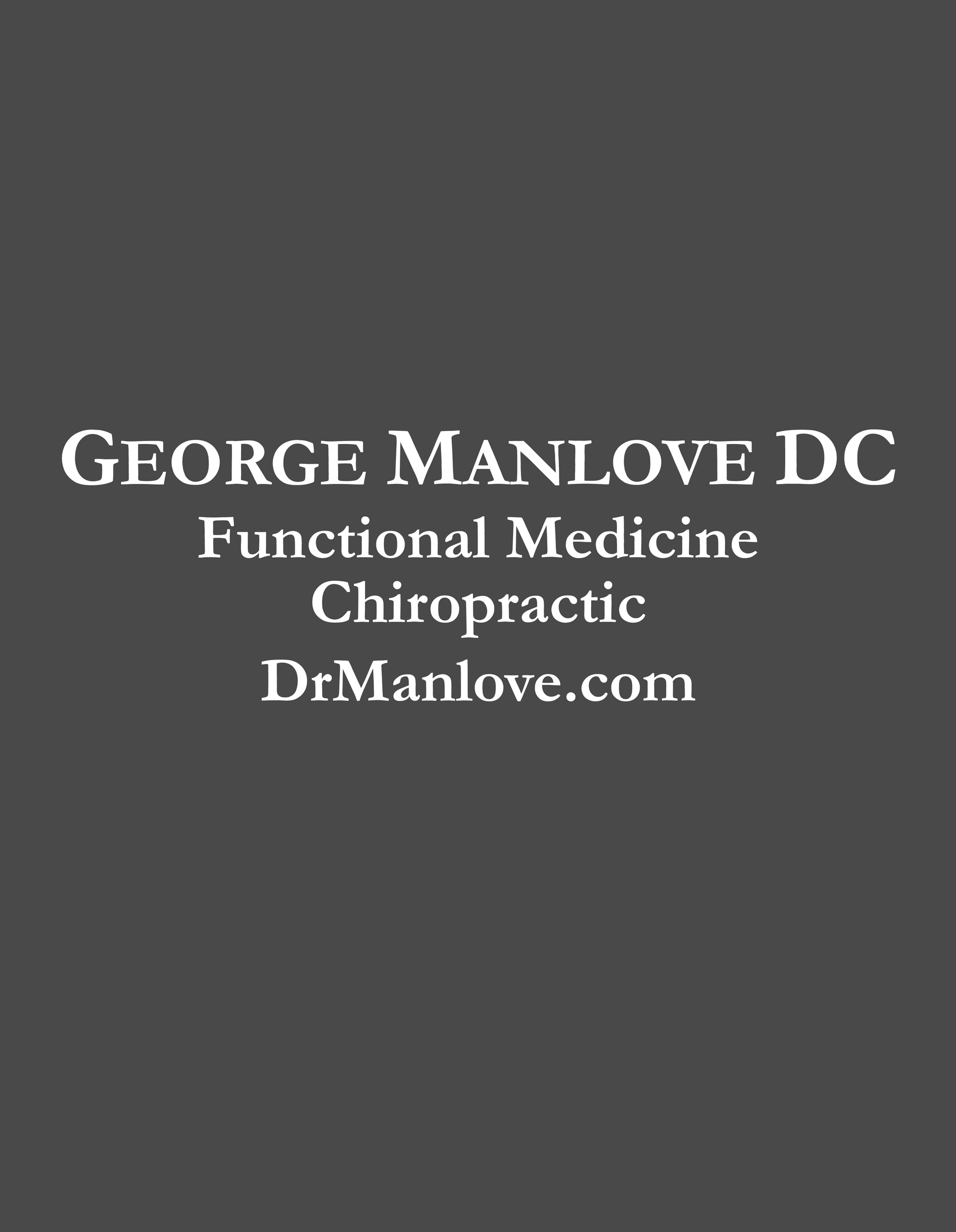 George Manlove Door Vinyl