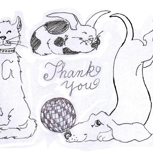 Kids 4 Critters Thank You Card Original