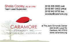 Caramore Business Card Shelia