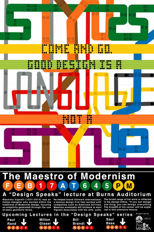 Massimo Vignelli Subway Lecture Poster