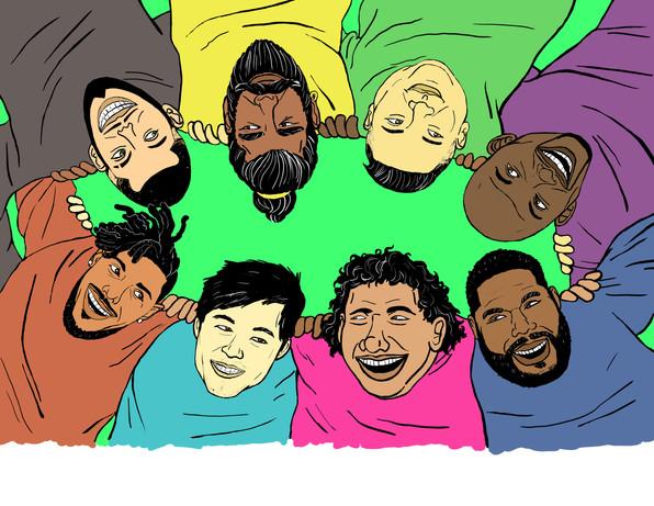 Flyer for Men of Color Support Group