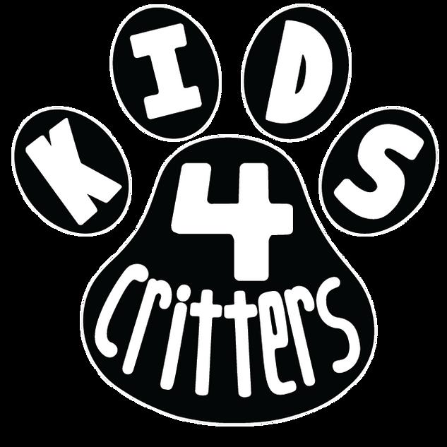 Kids 4 Critters Logo B & W