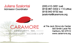 Caramore Business Cards