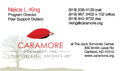 Caramore Business Card Neice