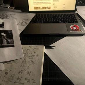 Design Death Sticker on a computer