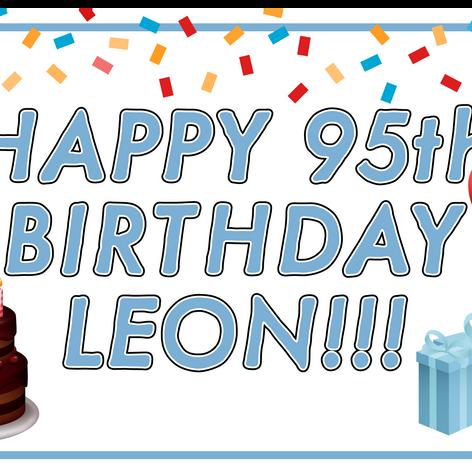 Leon 95th Birthday Banner