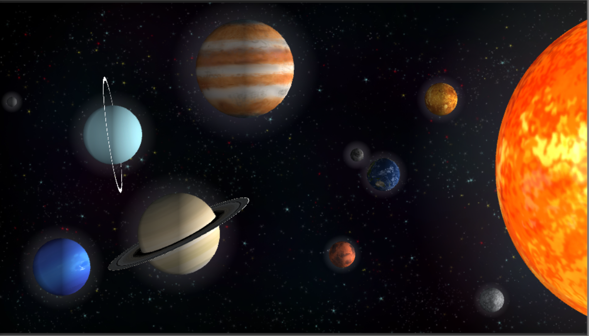 Wall View of Solar System
